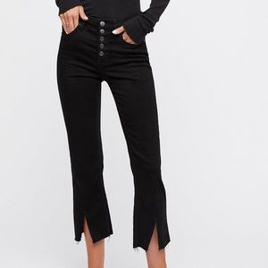 👖 Free People slit-front ankle jeans